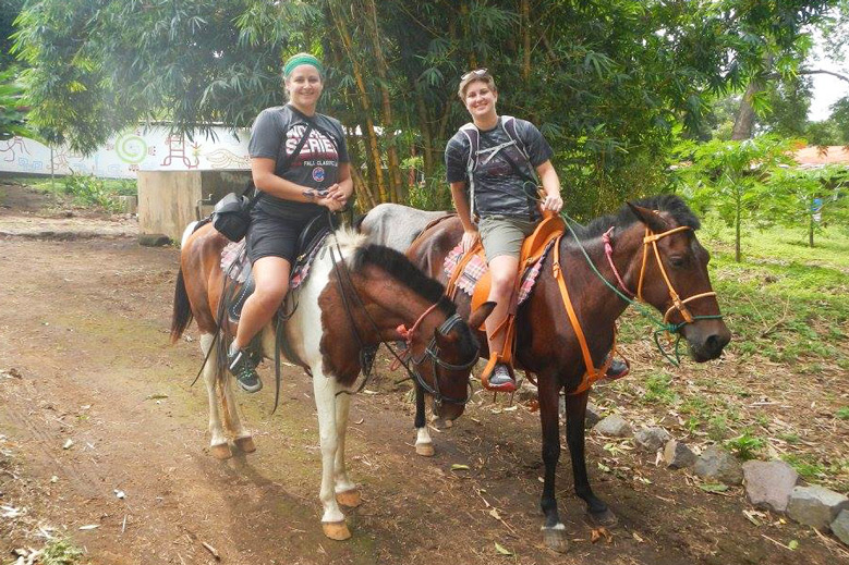 Horseback riding on a coffee farm in Nicaragua - Photo by Bridget Kapinus