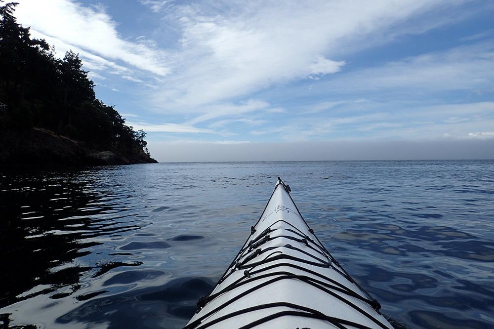 Kayaking during our Discovery Sea Kayaks excursion on San Juan Island, Washington