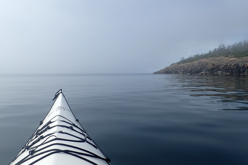 Kayaking off the coast of San Juan Island in Washington
