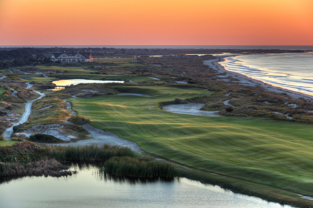 Sixteenth hole at Pete Dye's Ocean Course at Kiawah Island Golf Resort, site of the 1991 Ryder Cup and the 2012 PGA Championship