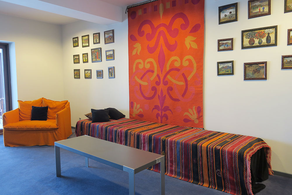 A seating area in our King Erekle Suite at Hotel Kabadoni