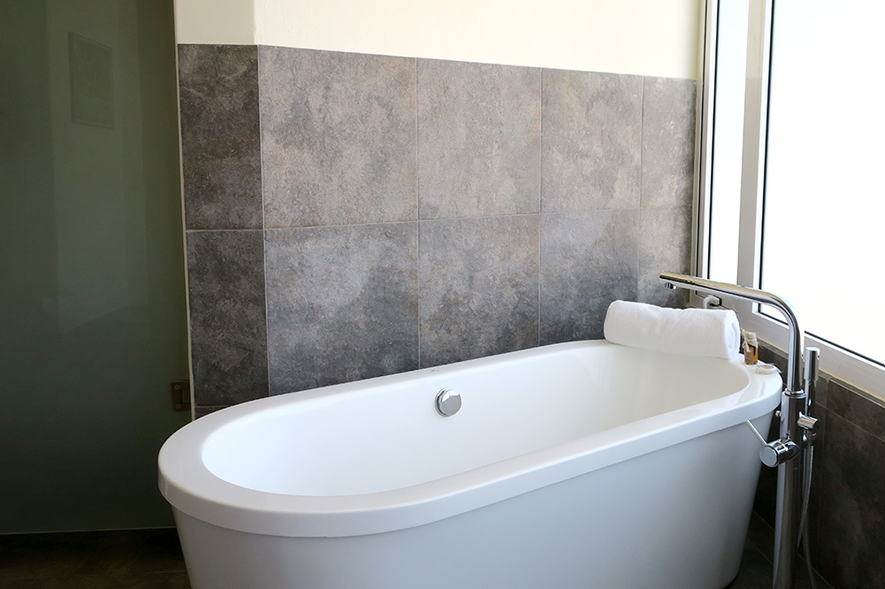 The bath of our Super Suite at CostaBaja Resort & Spa in La Paz, Mexico