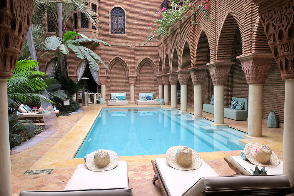 The pool at La Sultana Marrakech
