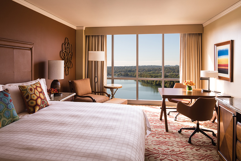 A Lake View Deluxe Room at the Four Seasons Hotel Austin