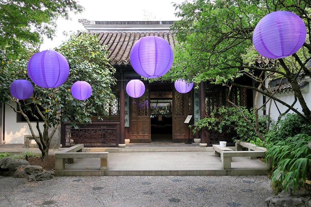The Scholar's Courtyard at the Lan Su Chinese Garden in Portland, Oregon