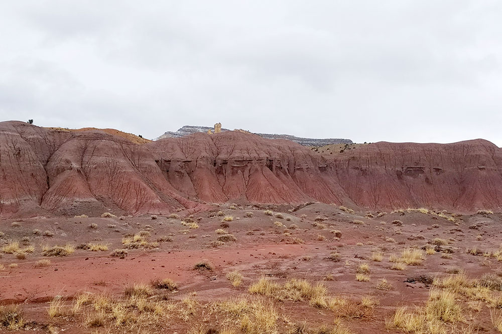 The red-rock landscape of Georgia O'Keeffe's Ghost Ranch in Abiquiú
