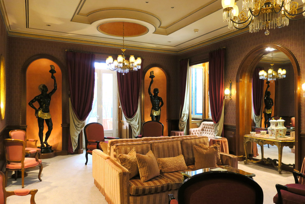 Lounge at Lapa Palace, Lisbon, Portugal - Photo by Hideaway Report editor