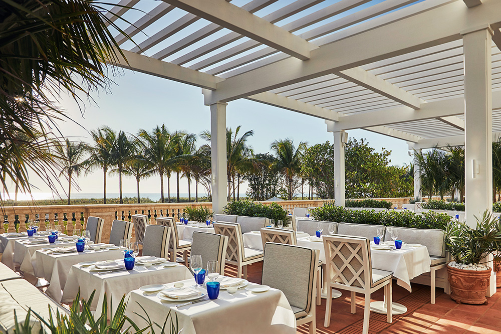 <em>Le Sirenuse Miami</em>, the restaurant at the Four Seasons Hotel at The Surf Club in Surfside, Florida