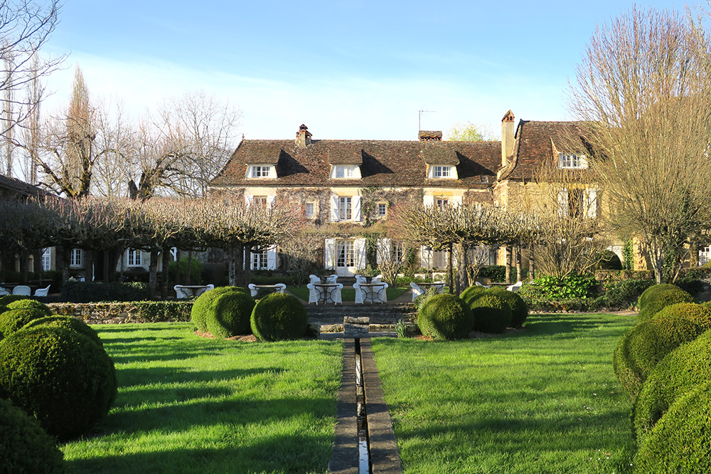 The gardens on the grounds of Le Vieux Logis in Trémolat, France