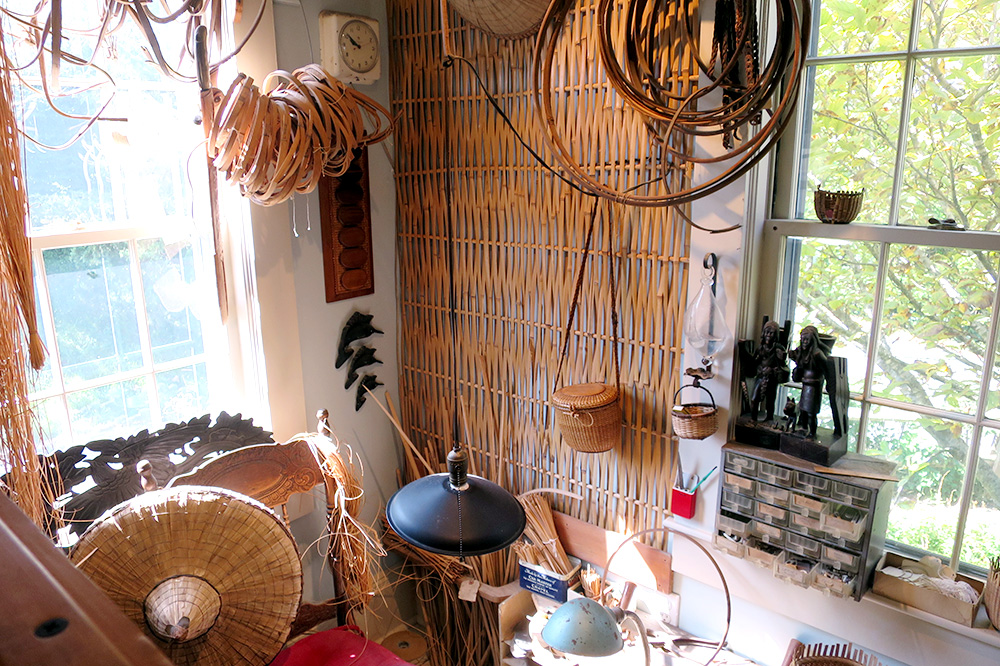 The interior of the Nantucket Lightship Basket Museum