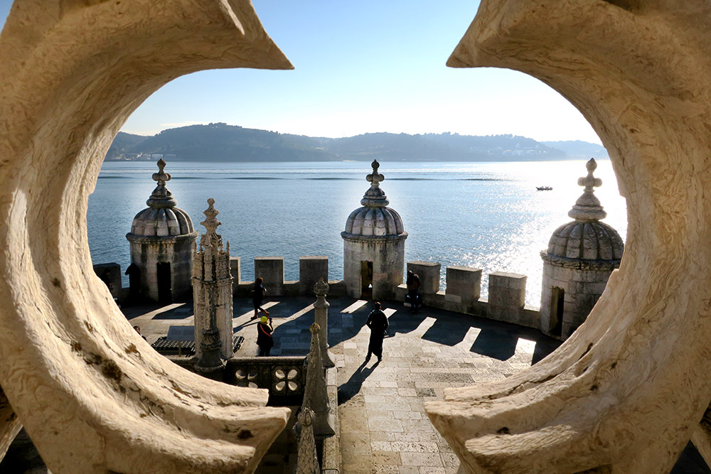 View from the balcony of Palacio do Governador, Lisbon, Portugal - Photo by Hideaway Report editor