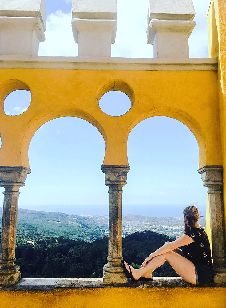 Pena Palace overlooking the town of Sintra