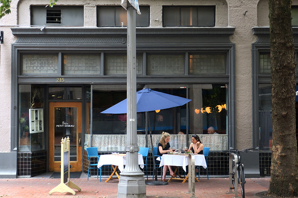 The exterior of <em>Little Bird</em> in Portland, Oregon - Photo by Hideaway Report editor