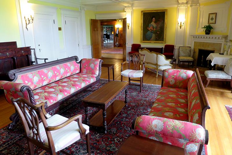 Lounge at The Inn at Shelburne Farms