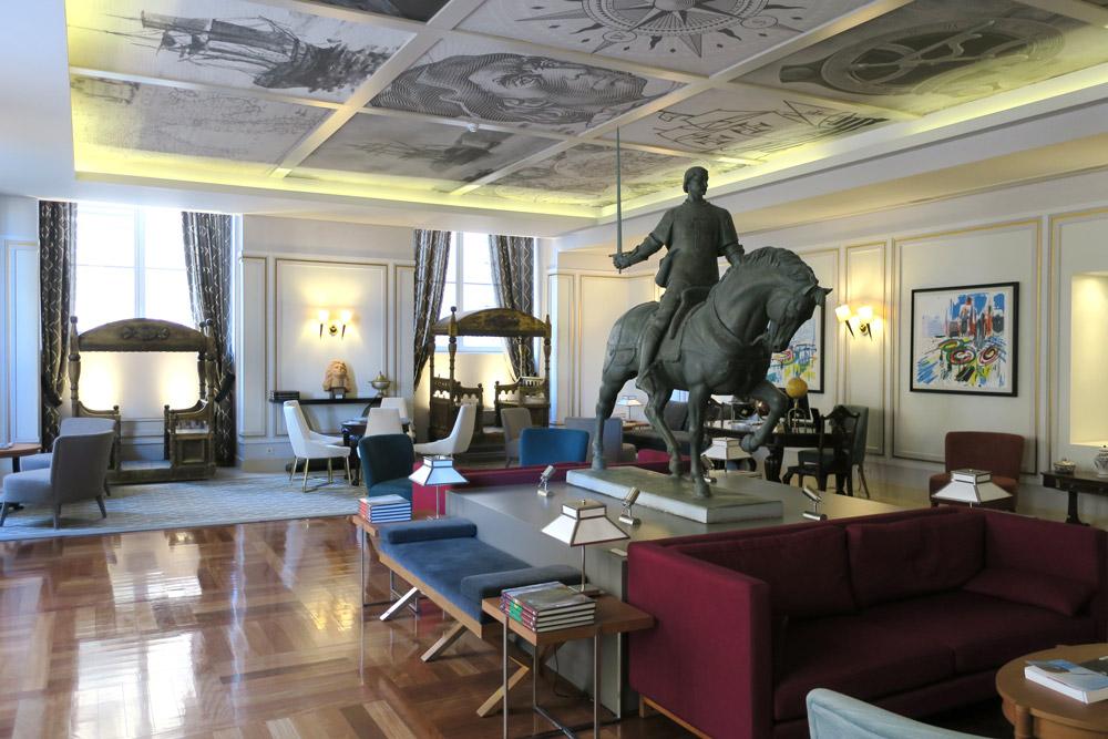 Lobby of Pousada de Lisboa, Lisbon, Portugal