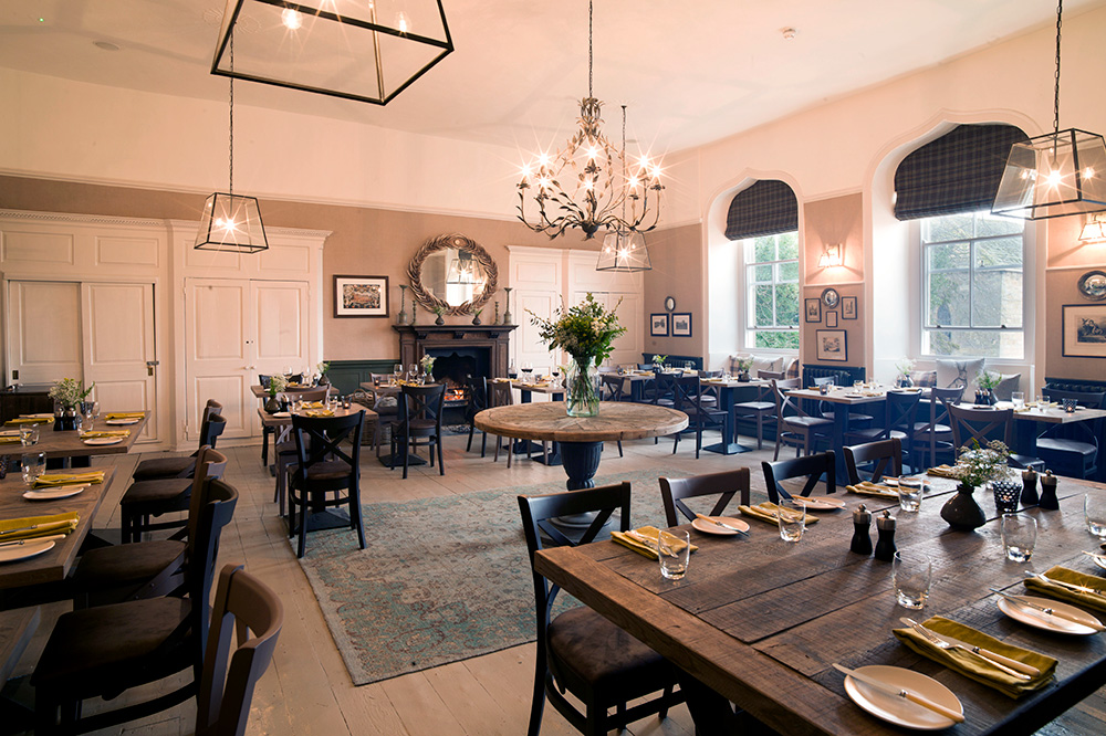 <em>The Bishops Dining Room</em> at Lord Crewe Arms in Northumberland, England