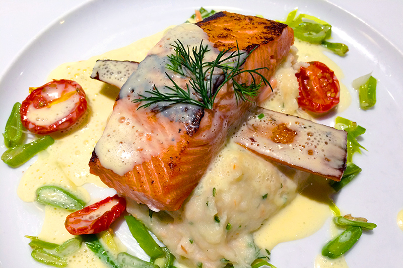 Baked fillet of Arctic char from our dinner on the Explorer