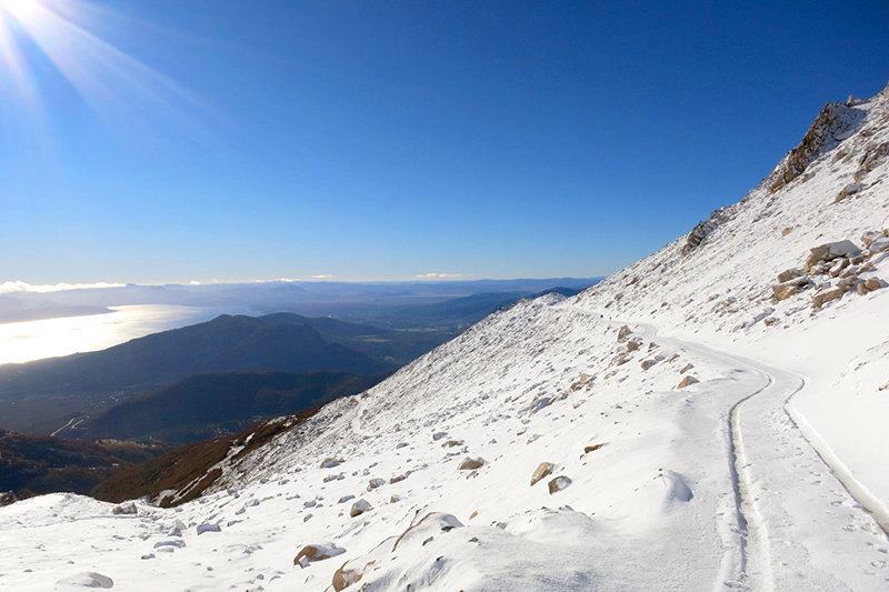 Pristine snow just below the Punta Princesa peak- Photo by Hideaway Report editor