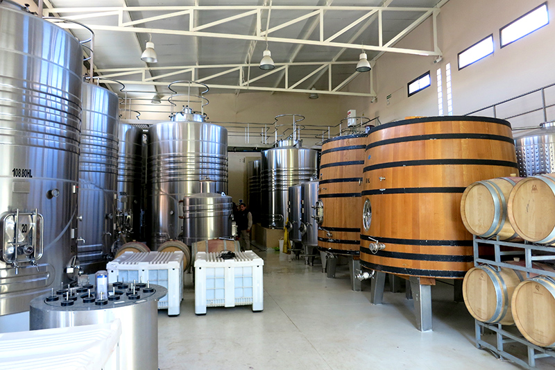 Fermentation tanks at El Porvenir- Photo by Hideaway Report editor