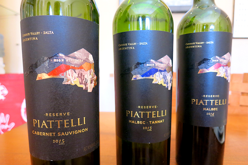 Piattelli's premium reserve wines- Photo by Hideaway Report editor