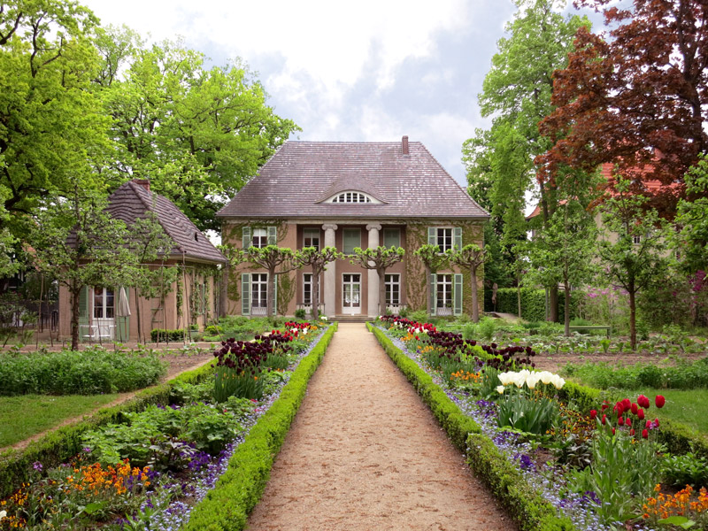 Flower and vegetable gardens at the Liebermann-Villa - Photo by Hideaway Report editor