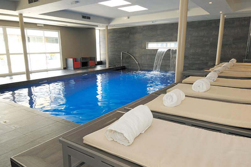 Indoor pool at Le Brittany