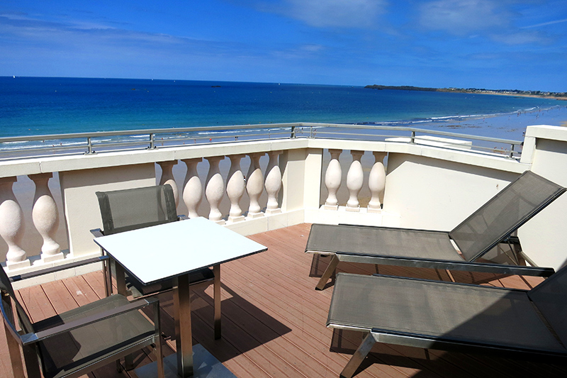 View from our private terrace at Le Nouveau Monde - Photo by Hideaway Report editor