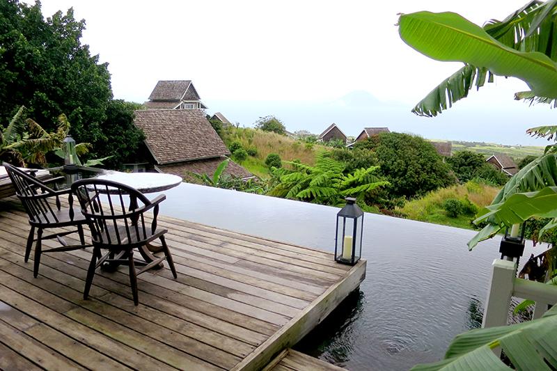 Terrace of our cottage at Belle Mont Farm