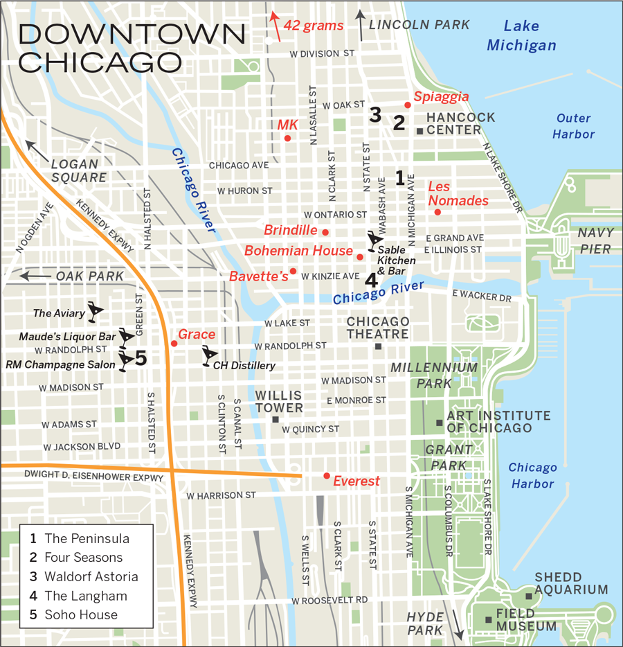 Four Seasons Chicago Map Chicago Hotels Update
