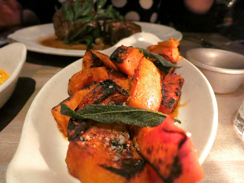 Flavorful roasted butternut squash with sage at <i>Bavette's</i> - Photo by Hideaway Report editor