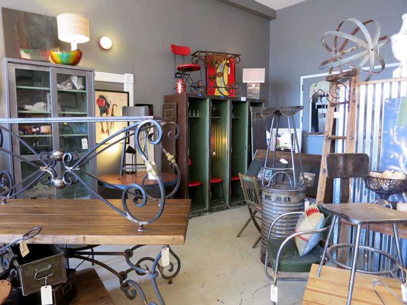 Antiques and new furnishings from reclaimed wood at State Street Salvage - Photo by Hideaway Report editor