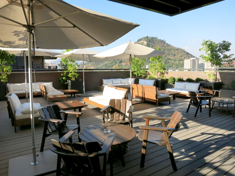 Rooftop terrace at The Singular Santiago - Photo by Hideaway Report editor
