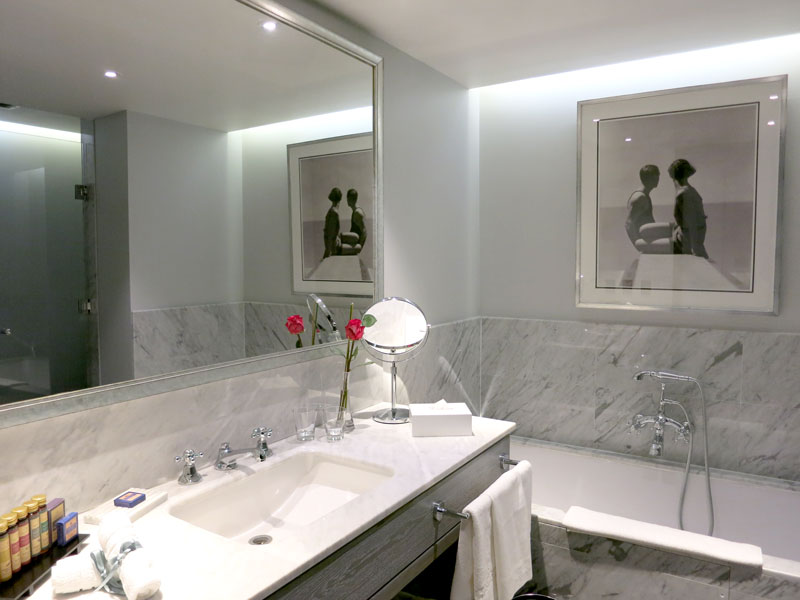 Our bath at The Singular Santiago - Photo by Hideaway Report editor