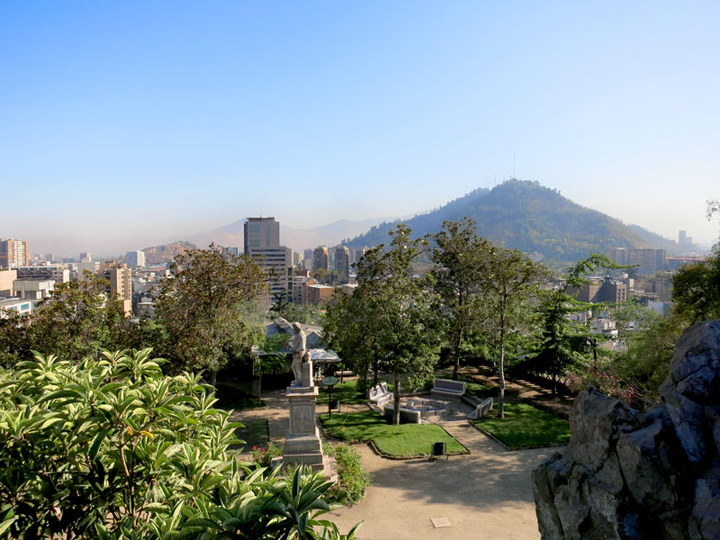View of Santiago and the Andes from Cerro Santa Lucía