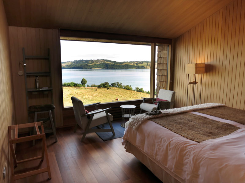 View from our bedroom at Tierra Chiloé - Photo by Hideaway Report editor