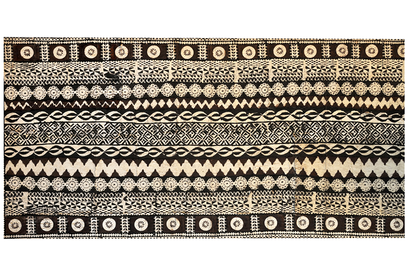 A traditional Fijian <i>tapa</i> cloth, made from mulberry bark and decorated with geometric designs - © Nigel Spiers/iStock/Thinkstock