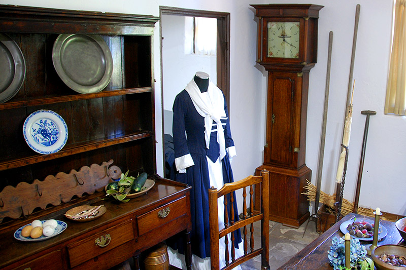 Eighteenth-century furnishings in Cooks' Cottage at Fitzroy Gardens - Photo by Hideaway Report editor