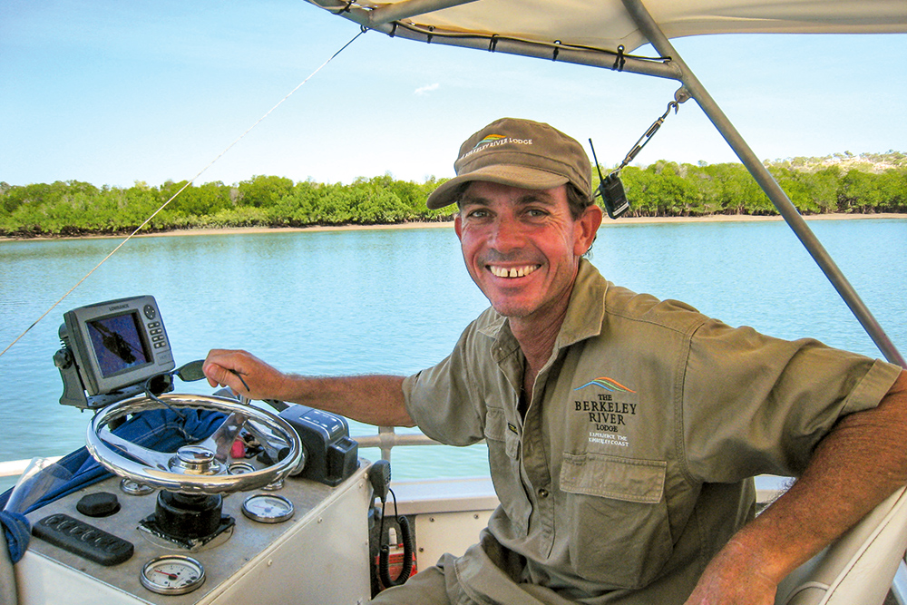 Bruce Maycock, our knowledgeable guide at The Berkeley River Lodge in the Kimberley, Australia