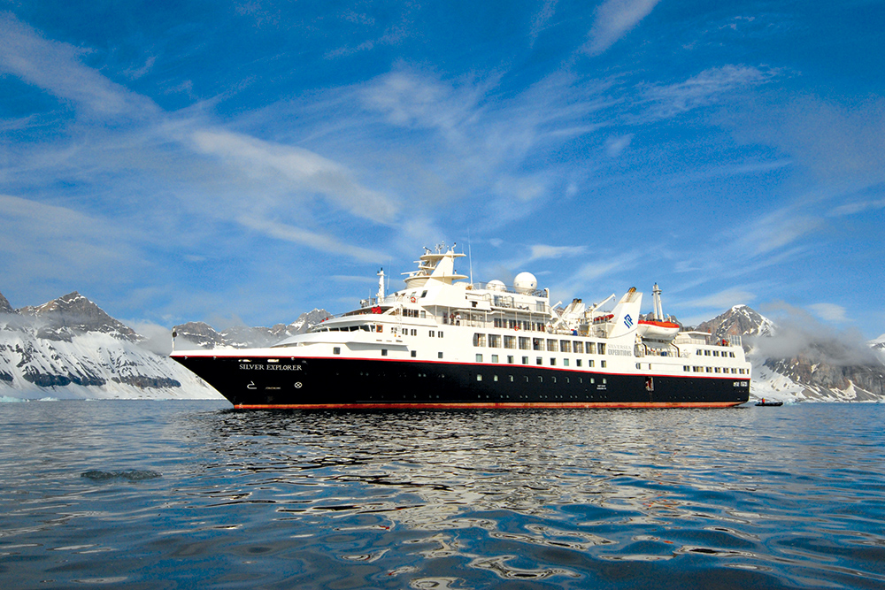 The Silver Explorer, a 6,000-ton expedition ship with room for 132 passengers