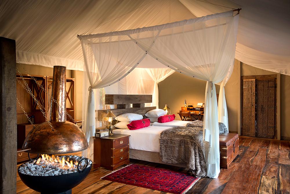 Tented Villa at Zarafa Camp in Botswana