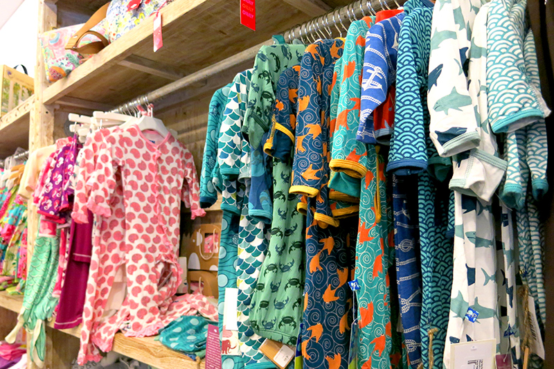 Selection of high-quality children's clothing at Hale Zen - Photo by Hideaway Report editor