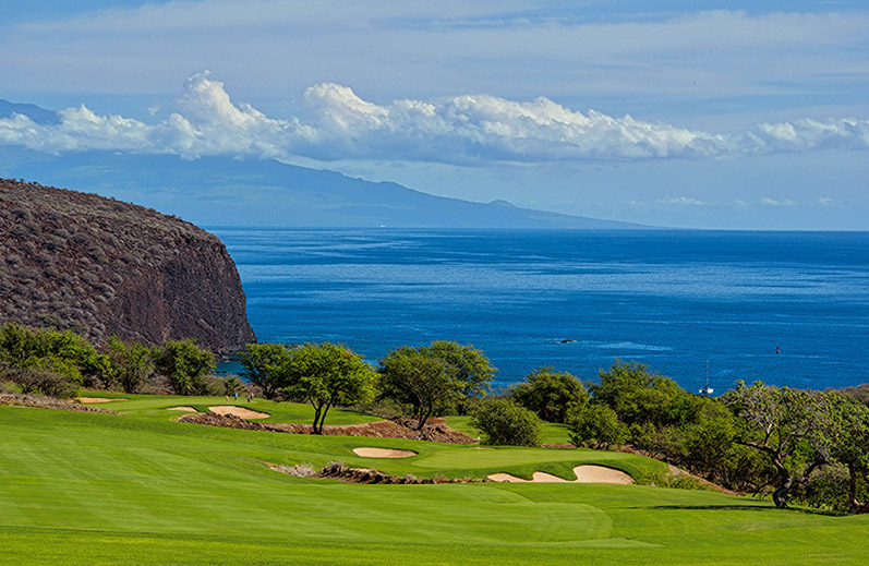 Jack Nicklaus signature seaside Manele Golf Course at Four Seasons Lanai