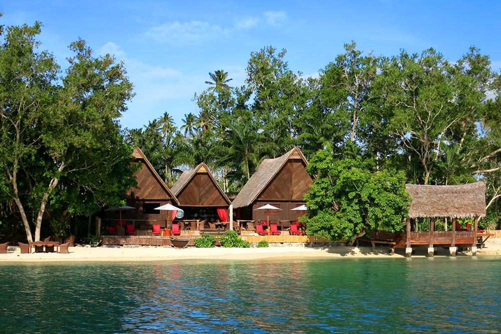 View of the Yacht Club at Ratua Private Island  in Vanuatu