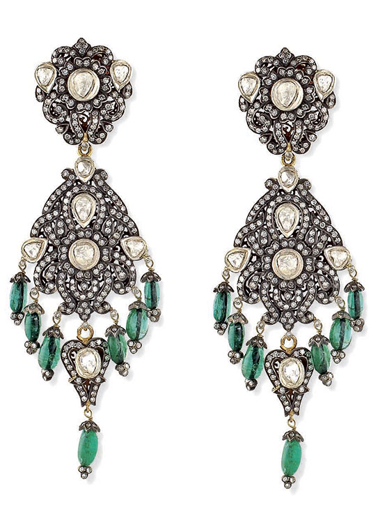 Earrings from the Victorian Collection at the Silver & Art Palace in Jaipur