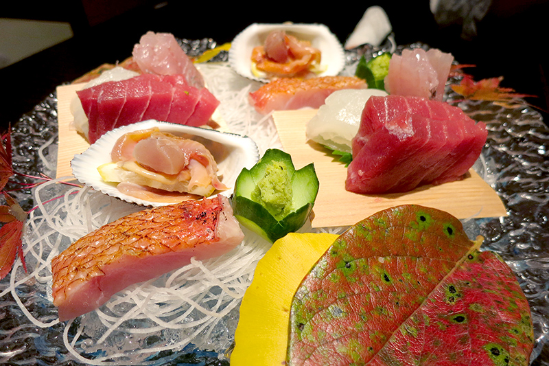 Our sashimi dinner at Hakone-Ginyu - Photo by Hideaway Report editor