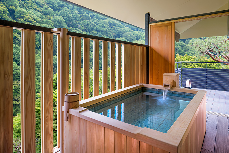 Presidential Suite open-air bath - © Suiran, A Luxury Collection Hotel, Kyoto