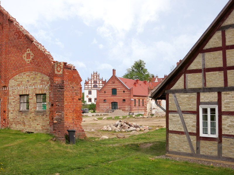 Brick outbuildings at Schloss Basedow - Photo by Hideaway Report editor