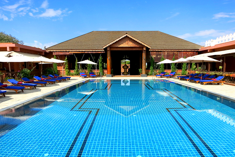 Pool at Bagan Lodge - Photo by Hideaway Report editor