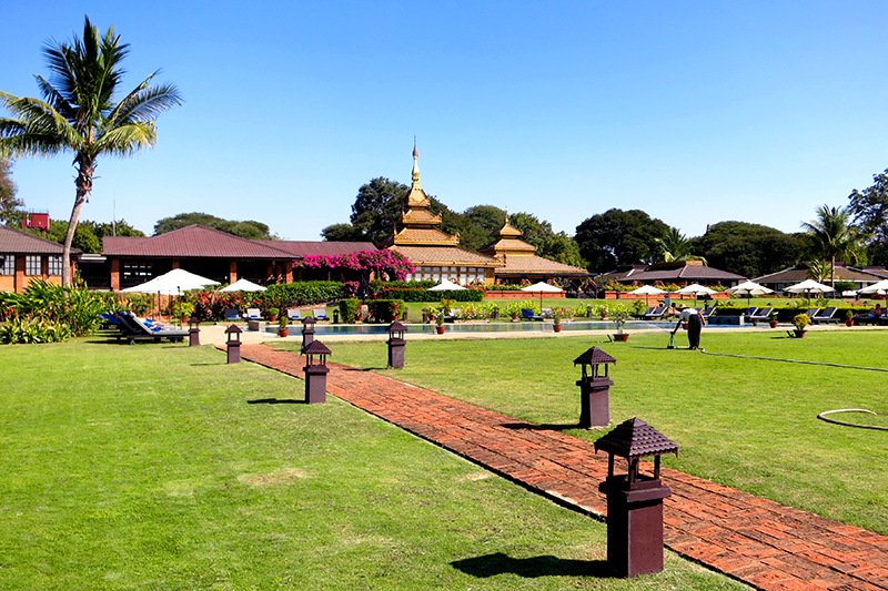 Grounds at Bagan Thiripyitsaya Sanctuary Resort - Photo by Hideaway Report editor