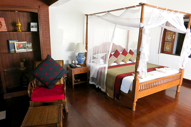 Villa Suite bedroom at Bagan Thiripyitsaya Sanctuary Resort - Photo by Hideaway Report editor